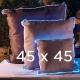Coussin lumieux 45x45