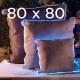 Coussin lumieux 80x80