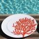 Assiettes Corail Rouge