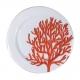6 Assiettes Corail Rouge
