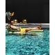 Gold pool armchair