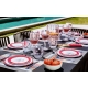Assiettes Bermudes Rouge